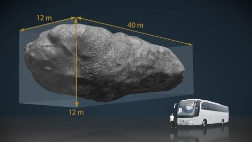 Asteroide 2012 DA14 vistos desde el espacio. Créditos: Servicio Multimedia (IAC).